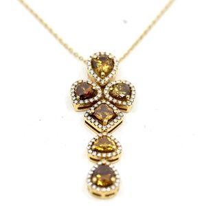 10.98 Carat Champagne Diamond Necklace